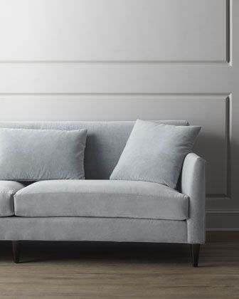 Silvertone Sofa at Horchow.