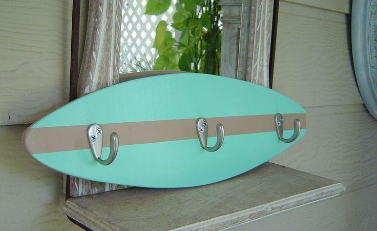18 inch surfboard hook rack beach sea and tan hang for Kids room hooks