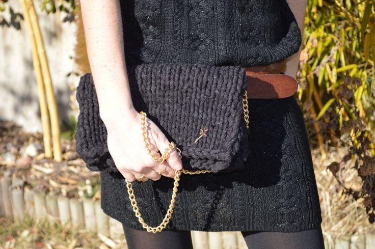 Roller bag- Bolso de día y noche con cadena #TheWoolCollection #knitting #tejer #clutch
