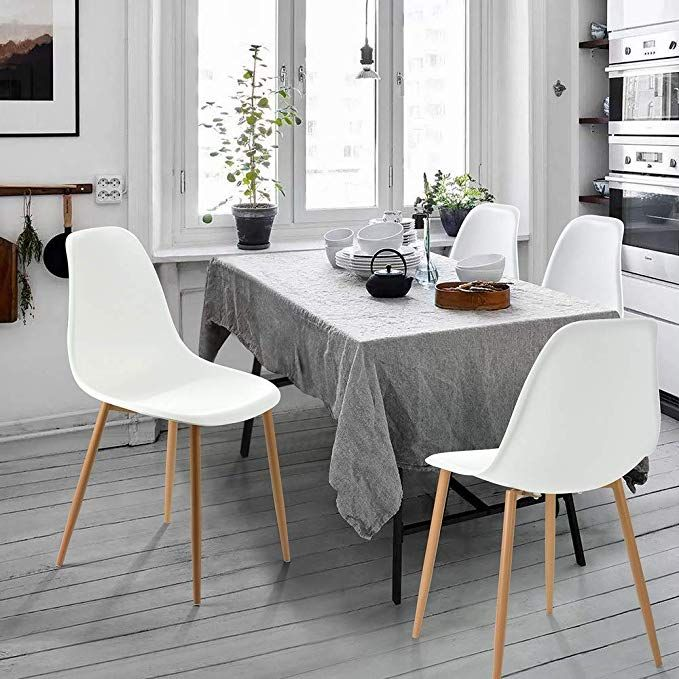 Amazonsmile Greenforest Dining Chairs Set Of 4 Eames Modern Style Kitchen Chair Metal Wood Legs Di Dining Chairs Plastic Dining Chairs Dinning Room Chairs