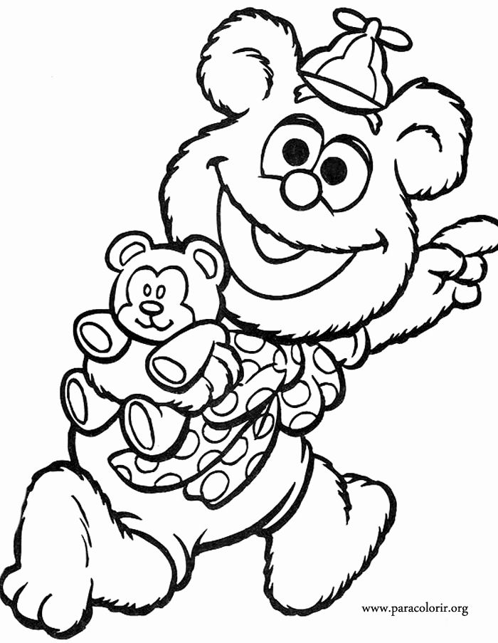 Muppet Babies Coloring Page Awesome Muppet Babies Fozzie Bear Coloring Page Baby Coloring Pages Bear Coloring Pages Coloring Books