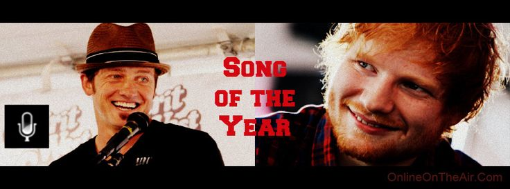 Song of the Year was a tie... sort of... I mean... Ed Sheeran simply drips with incredible natural talent... yet... I wanted Toby to get some props too... and not hide him in an Inspo category.  Both songs are great, in their own ways.