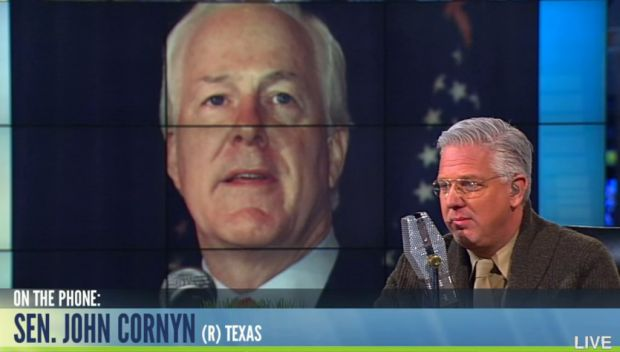 Glenn Beck Has a 'Frank Conversation' With Texas Sen. John Cornyn 11/25/13   *GET RID of the RINO's