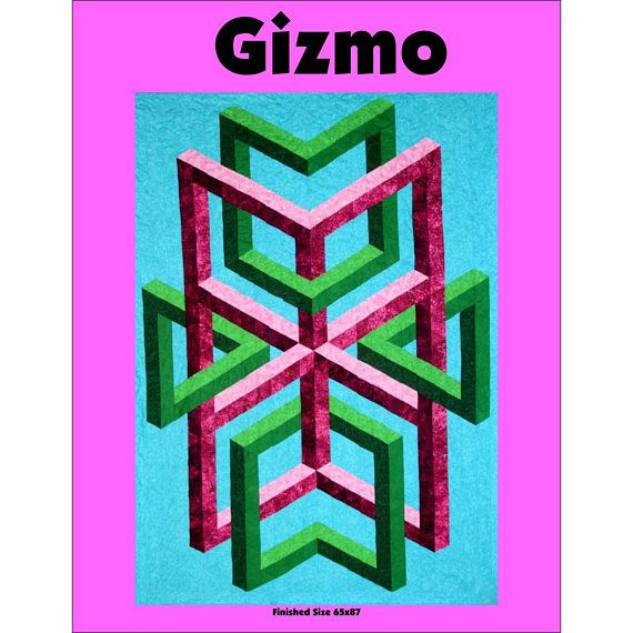 Gizmo 3-D Illusion Quilt Pattern by Quilter's Clinic, Optical