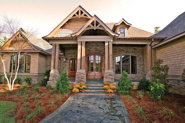 : Dreams Houses, Bd Dreams, Floors Plans, Stones Houses Front, Front Doors, Front Window, Craftsman Houses Plans, Houses Exterior, House Plans
