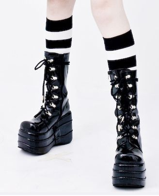 lace up demonia boots
