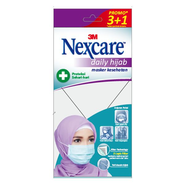 3M Masker Nexcare Daily Hijab (Masker), 3 pieces/bag - Jual Masker Yang Bagus u/ Hidung di dengan Harga Lebih Murah.  3M Masker Nexcare Daily Hijab dengan 3 lapisan penyaringan yang menjadikan penyaringan terhadap menjadi lebih efisien.  http://tigaem.com/kesehatan-perawatan-tubuh/1701-3m-masker-nexcare-daily-hijab-masker-3-piecesbag-jual-masker-yang-bagus-u-hidung-di-dengan-harga-lebih-murah.html  #nexcare #maskerdailyhijab #3M