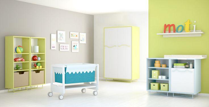 Coloridas y simpáticas. Así son las habitaciones Moti.  www.moti-play.com