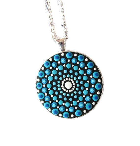 turquoise mandala stone inspired spiritual gifts yoga fashion style by FloralFantasyDreams on Etsy