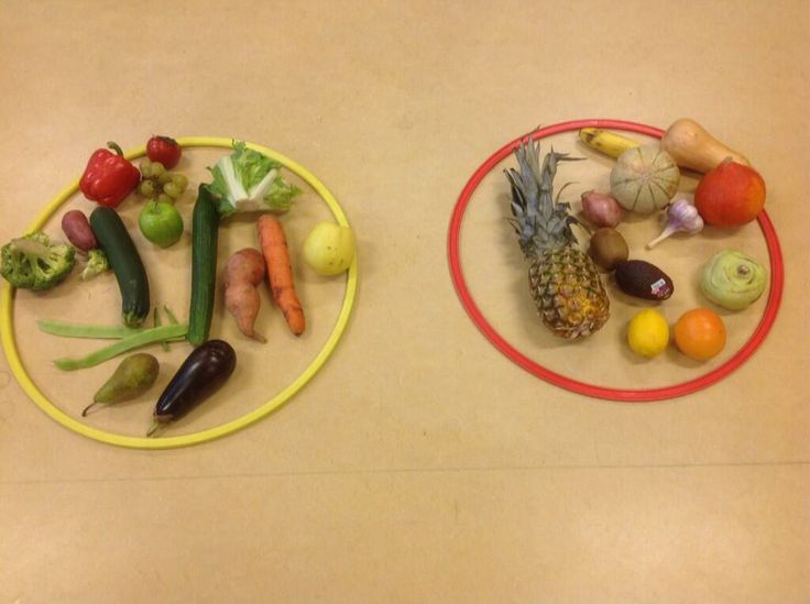 Pic idea: sorting veggies & fruits