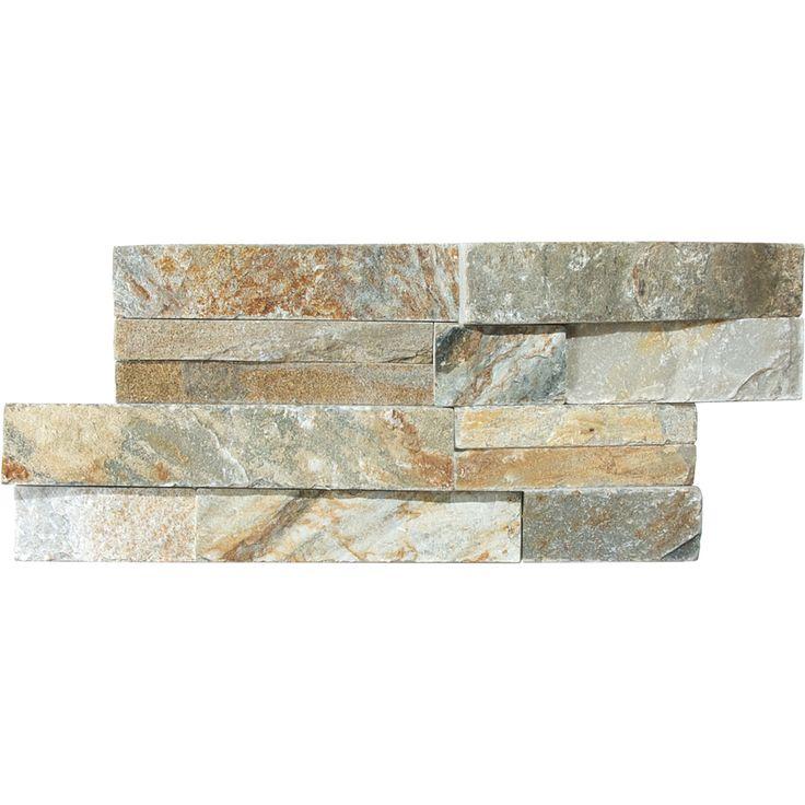 shop desert quartz ledgestone natural stone random indoor outdoor wall tile common 6 in x 14. Black Bedroom Furniture Sets. Home Design Ideas