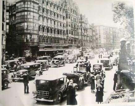 City. Civil. Cars. North front. Bilbao 1937.