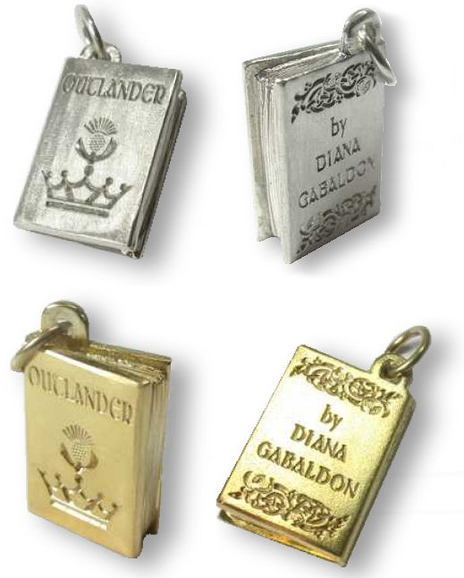 I die. Charms and jewelry from books by Diana Gabaldon, Bronte, Austen, and Seton