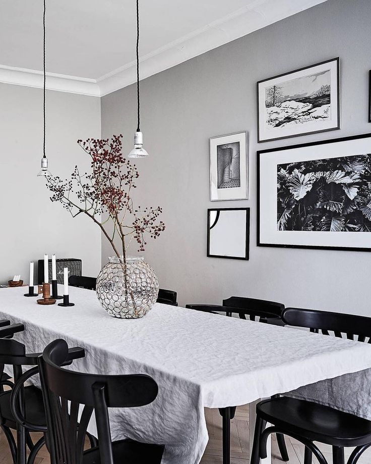 U0027Botanical No.3u0027 Print In A Cozy Stylish Dining Room Styled By Talented