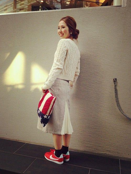 レイ ビームス 原宿|Amiさんのスカートを使ったコーディネート - ZOZOTOWN