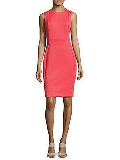 Calvin Klein - Solid Seamed Sheath Dress