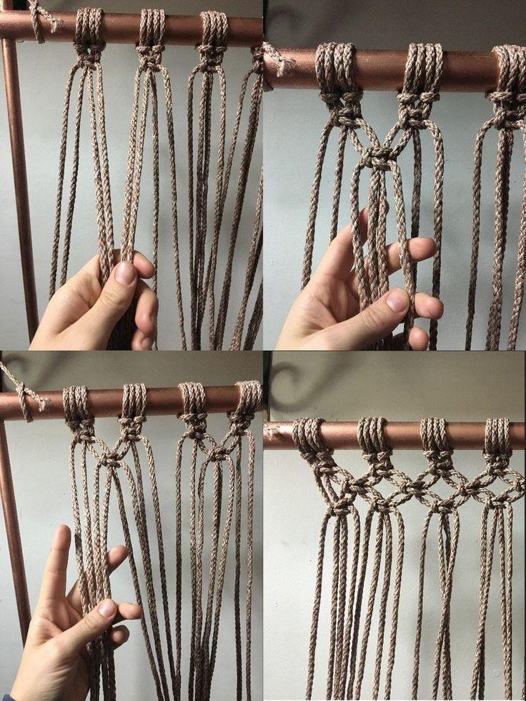 Wie man einen hängenden Makramee-Stuhl DIY macht