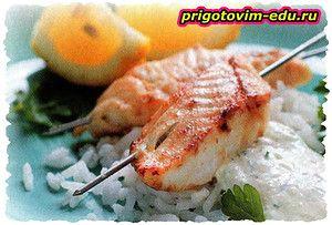 Белая морская рыба - гриль