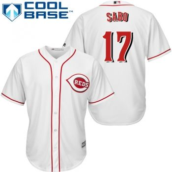 Youth Authentic Home White Cincinnati Reds Chris Sabo Jersey Cool Base MLB Majestic