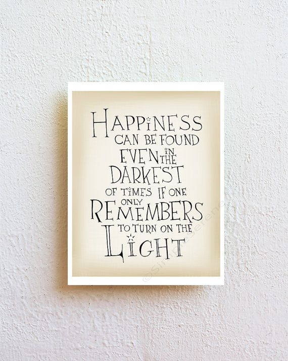 ★ Happiness - quote print  SimpleSerene takes pride in our unique, hand-lettered work. Each lettered design is carefully drawn by hand and then