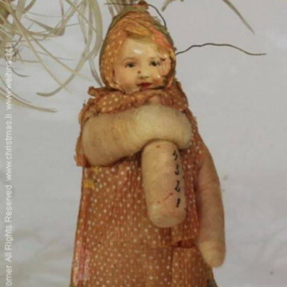 : Cotton Ornaments, Antiques Christmas, Antiques Cotton, Cotton Baby, Antique Cotton, Bats Ornaments, Christmas Ornaments, Baby Bottle, Cotton Babies