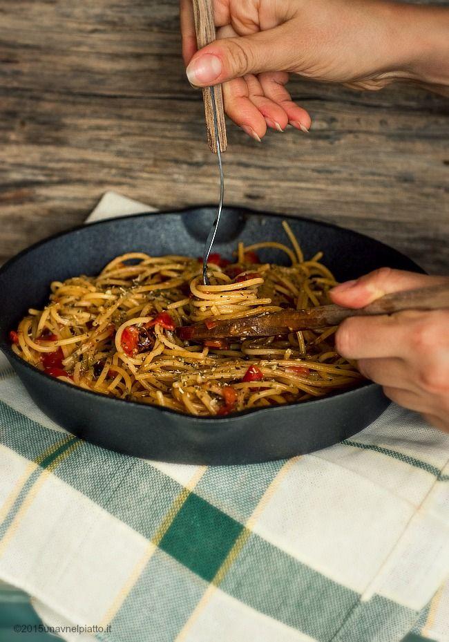 Spaghetti risottati con pomodorini freschi