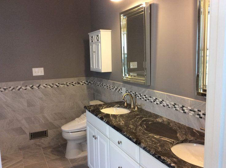 Gorgeous New Master Bathroom That Features Black Forest