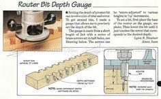Router Bit Depth Gauge - Marking Tips, Jigs and Techniques | WoodArchivist.com