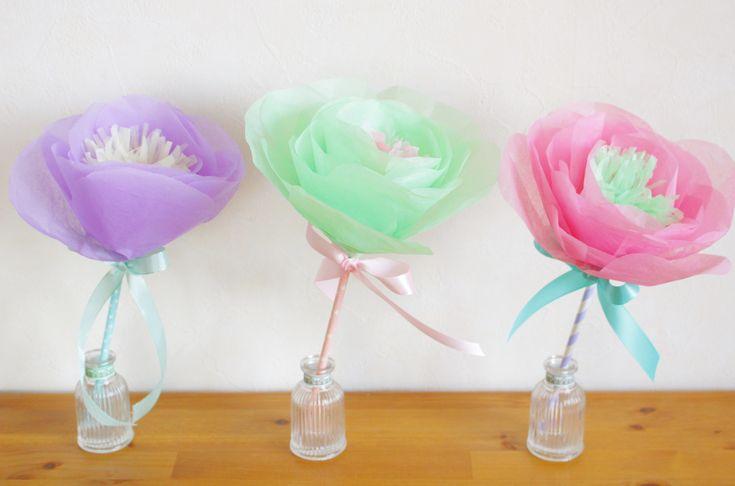 人気のお花紙シリーズ!!お花紙でこんなものも作れちゃうんです!ちょっとしたプレゼントにもピッタリ♪