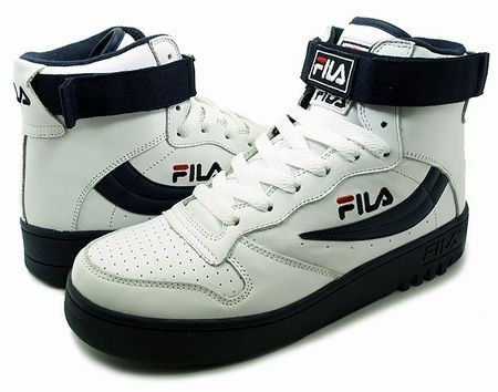 fila shoes blue red and white striped background vintage