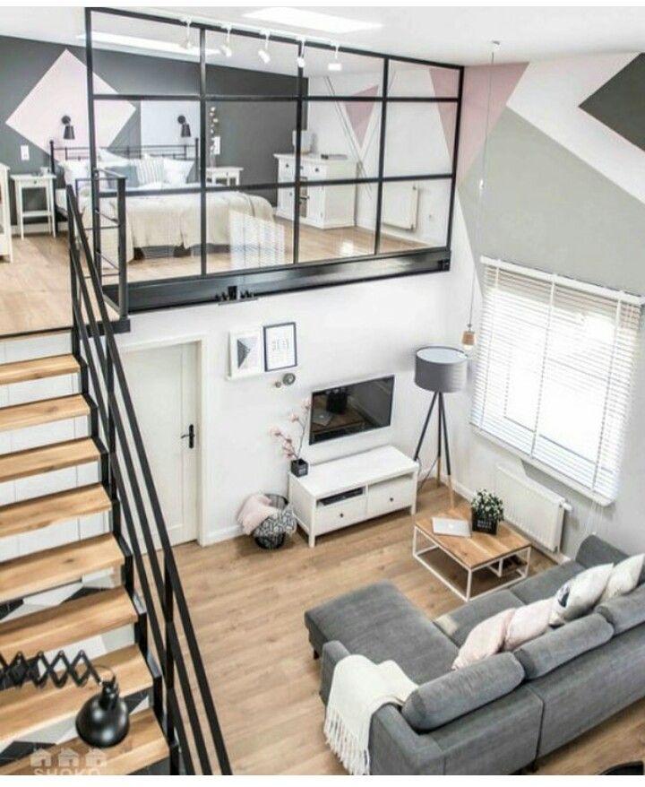 Loft glass wall