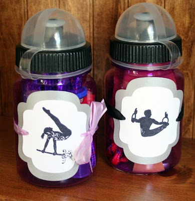 sports bottles as favors