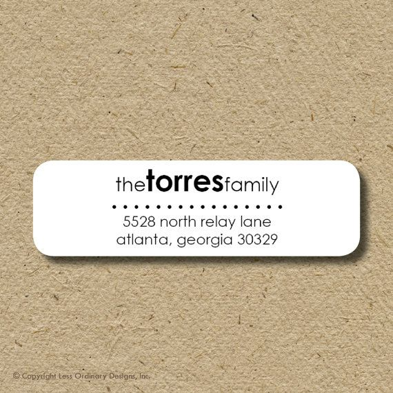 Modern return address labels, custom address stickers, self-adhesive return address labels-  shelburn