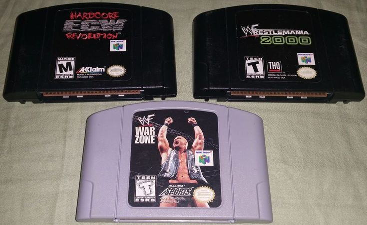 Hardcore ECW Revolution Wrestlemania 2000 WWF War Zone N64 LOT Wrestling Wrestle #Nintendo