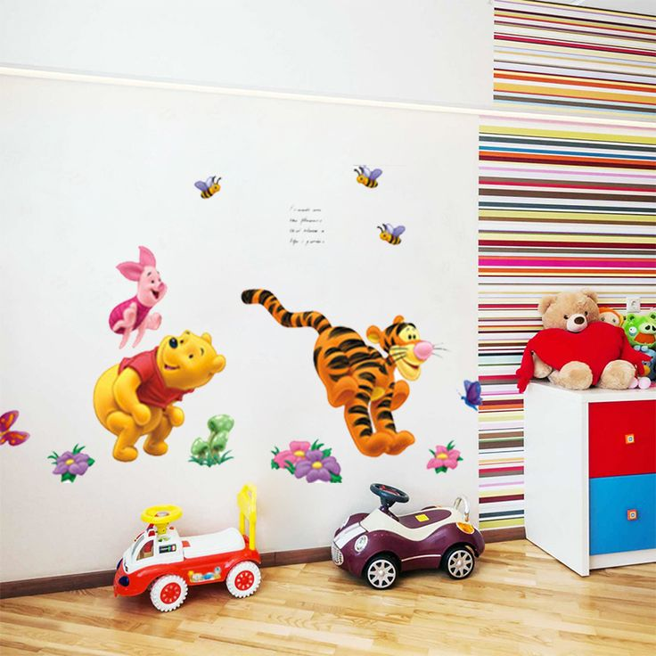Winnie The Pooh Bear Tiger Wall Stickers For Kids Rooms Decorative Sticker  Adesivo De Parede Wall Part 98