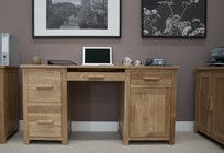 Oak furniture - Opus Oak Large Computer Desk