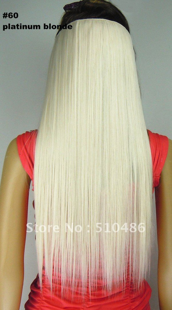 58 best hair extensions images on pinterest hairstyles braids 24 white clip in on hair extensions ladies long synthetic hairpieces color platinum blonde pmusecretfo Gallery
