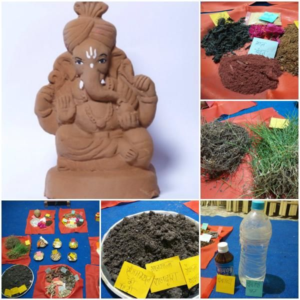 First ever #Ganesha #Idols made with #clay, cow dung & 56 rare herbs. Buy these #holy idols at http://matiganesh.com/collections/all  #ganeshchaturthi #ganeshutsav