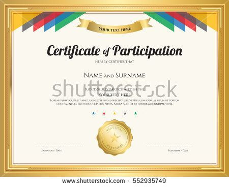 certificate of participation format – Certificate of Participation Format