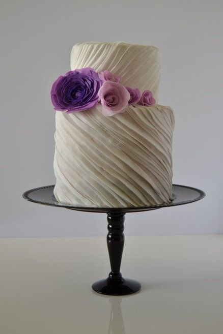 purple and bridal fashion inspired pleats