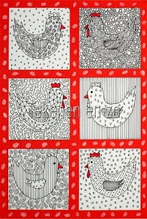 Kippen met verschillende patroontjes
