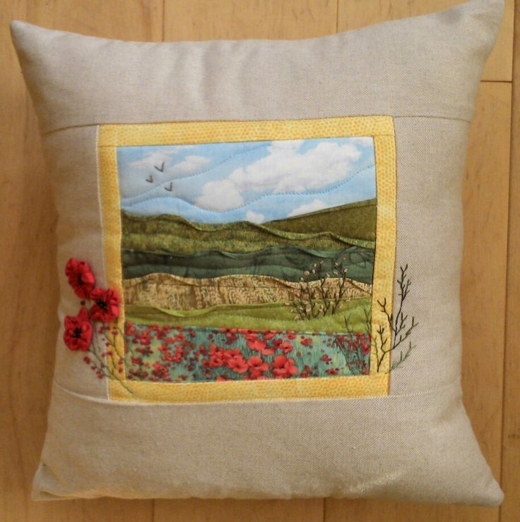 A cushion I made from a kit.