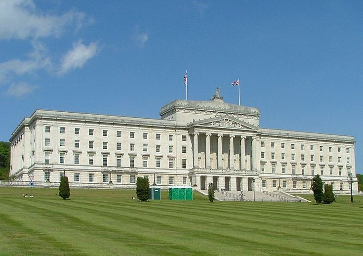 Parliament Buildings in Stormont, Belfast, seat of the Northern Ireland Assembly.