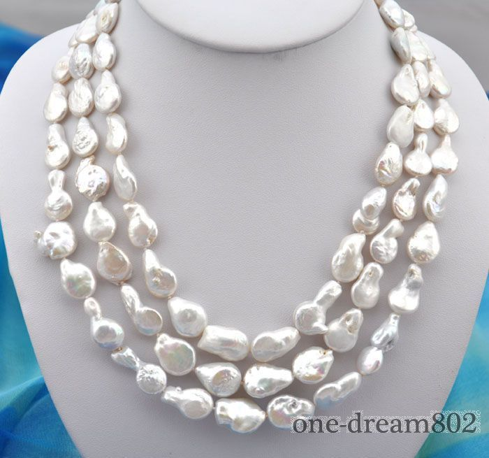 3 Row 7-8 mm Naturel tahaitian Black Pearl Necklace Bracelet Set