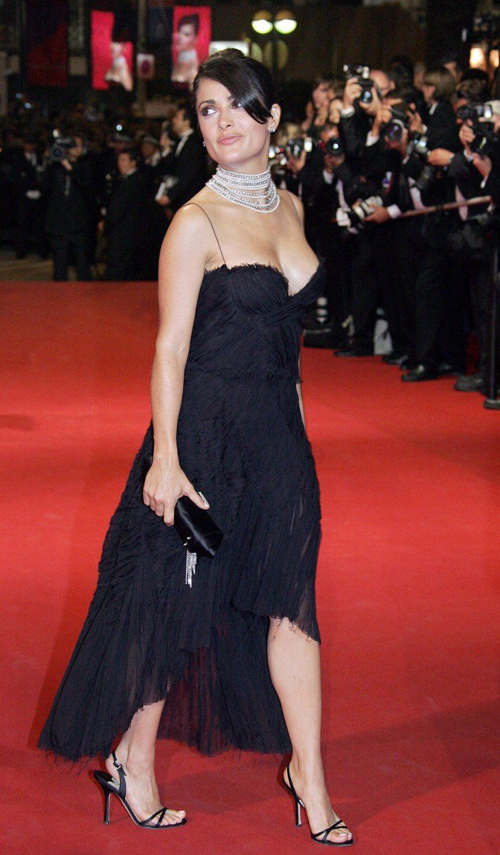 Pin for Later: Salma Hayek Always Dazzles on the Cannes Film Festival Red Carpet 2005