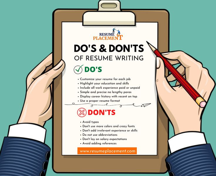 Dos and donts of resume writing in 2021 resume writing