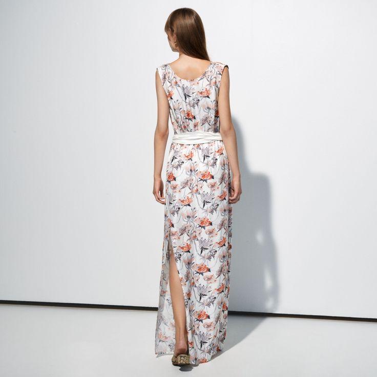 after light floral dress