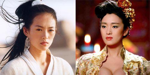 Zhang Ziyi and Gong Li in Zhang Yimou