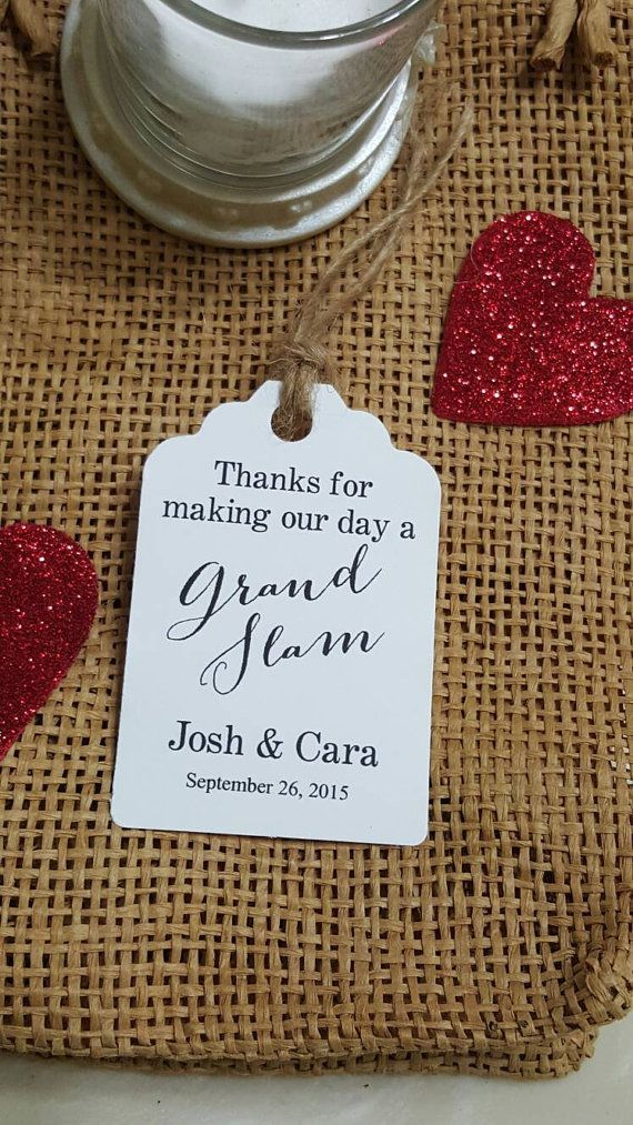 Personalized Favor Tags 25x18 Wedding tags Thank