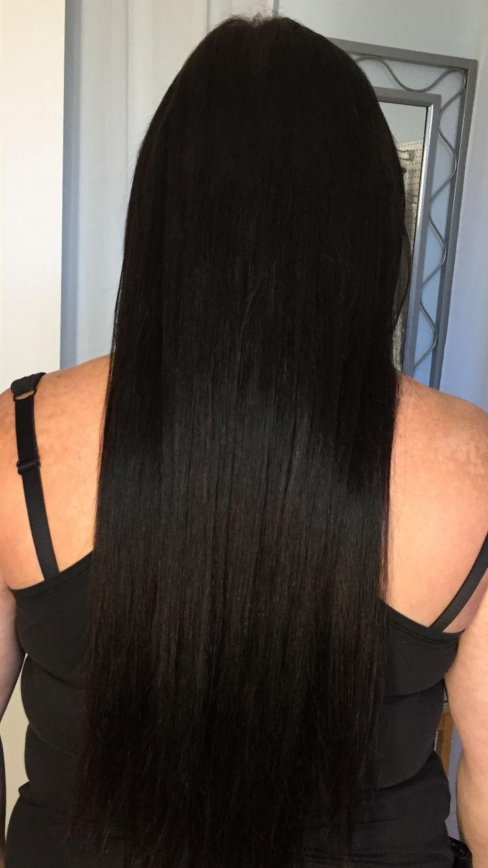 "Hair extensions black 22""  https://m.facebook.com/luxebeauteaccessoires/?ref=bookmarks"